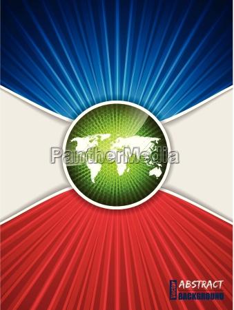 hexagon pattern map brochure with bursting