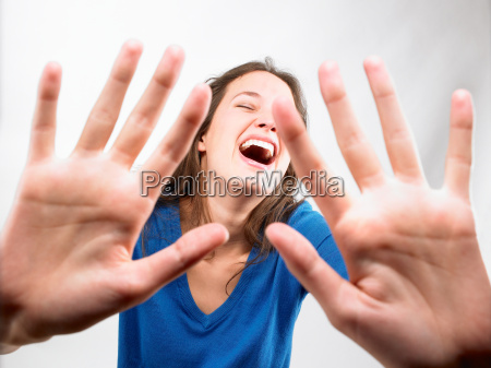 close up of womans hands
