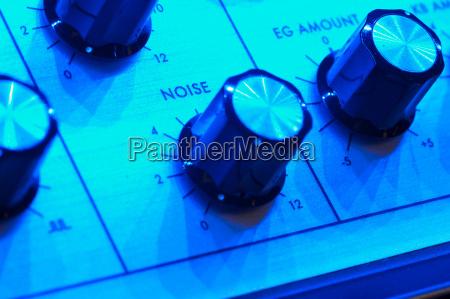 azul primer plano detalle musica sonido