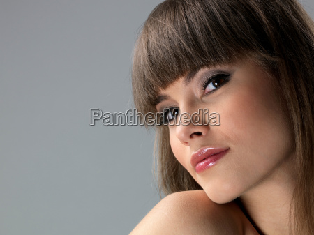 young woman close up