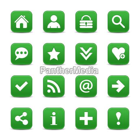 boton de web de icono satinado