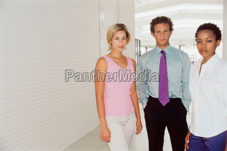 business people standing in office