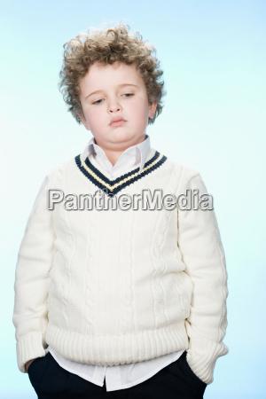 portrait of a sad boy