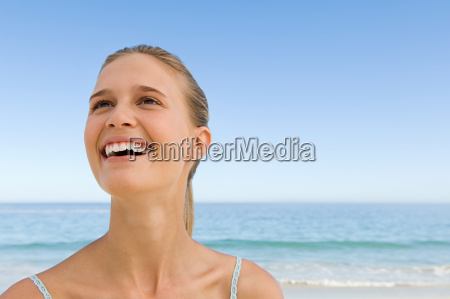 young woman laughing