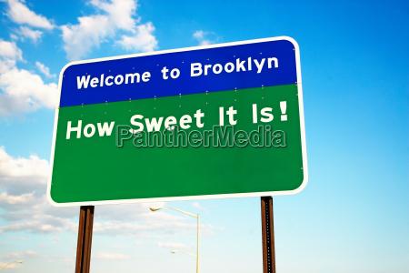 bienvenido al signo de brooklyn
