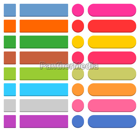 flat blank web icon colored button