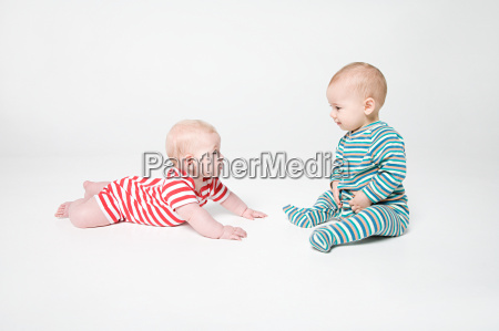 a baby boy and girl