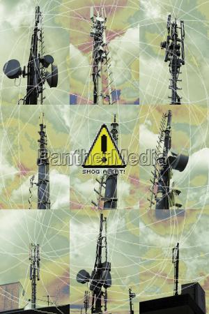 peligro industria nube amenaza senyal de
