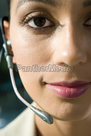 mujer secretario primer plano femenino cara