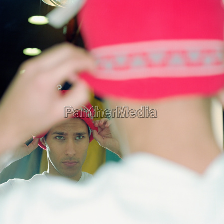 masculino cara reflexion compras posicion espejo