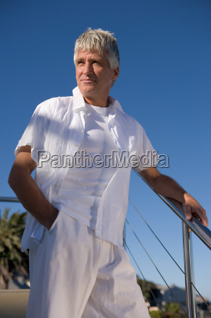 mature man in white