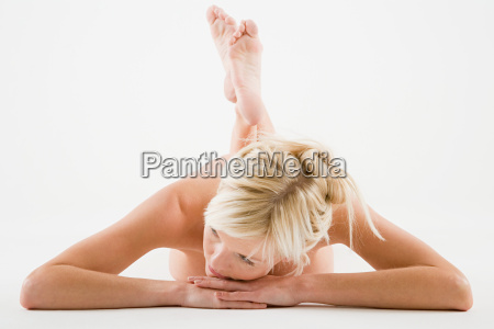 nude woman lying down