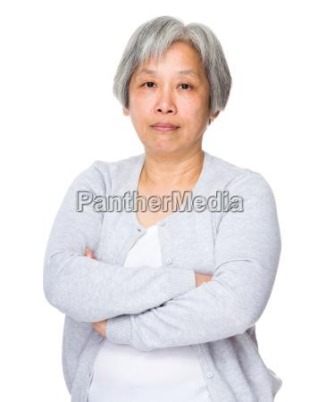 asian old woman portrait
