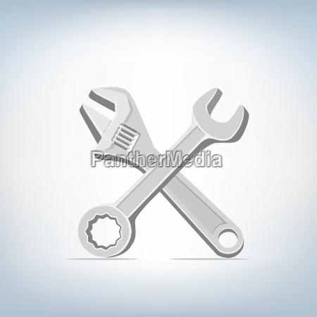 llave inglesa y el icono de