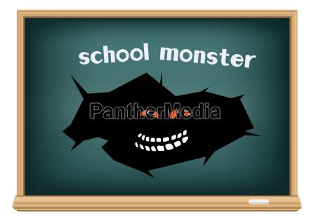 monstruo de la escuela de la