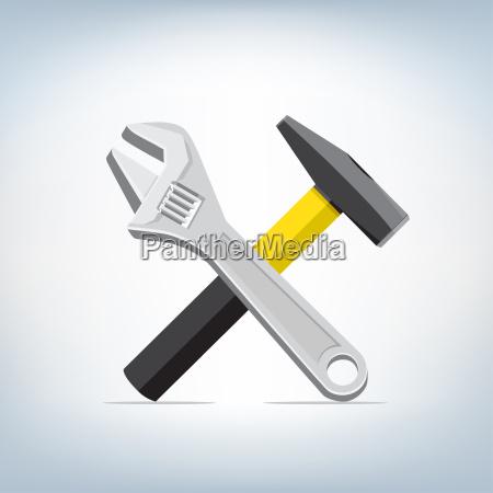 llave inglesa y el icono del