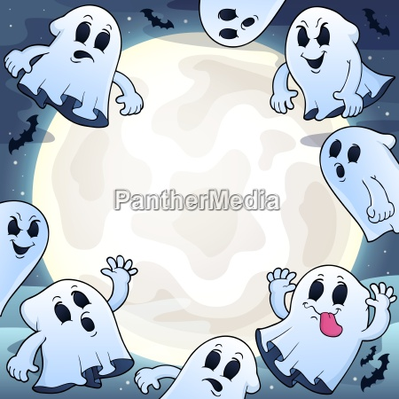 cielo nocturno con fantasmas theme 1