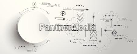 vector de innovacion tecnologica de fondo