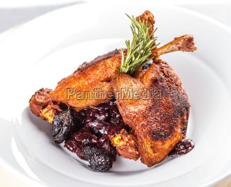 baqueta de pato asado
