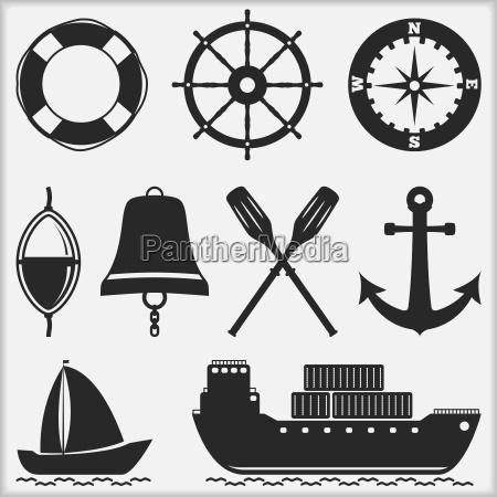 nautico carga icono barco velero barco