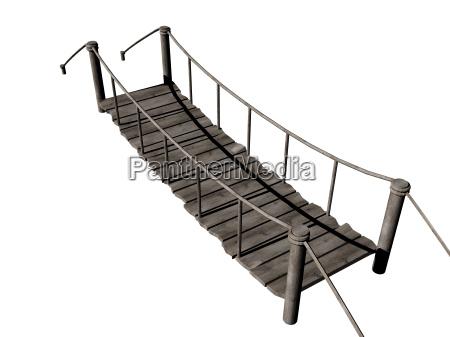 puente puente colgante vado tire de