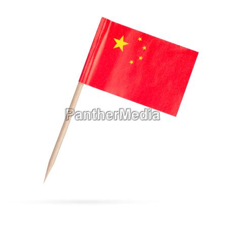 mini bandera china aislado sobre fondo
