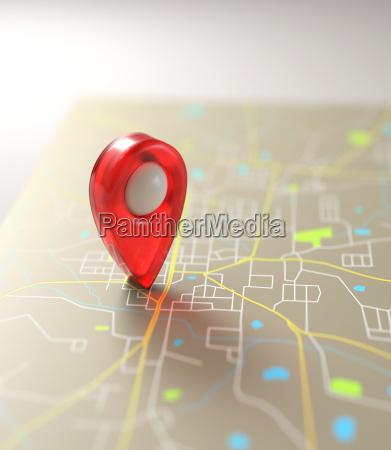 mapa de ruta gps mark