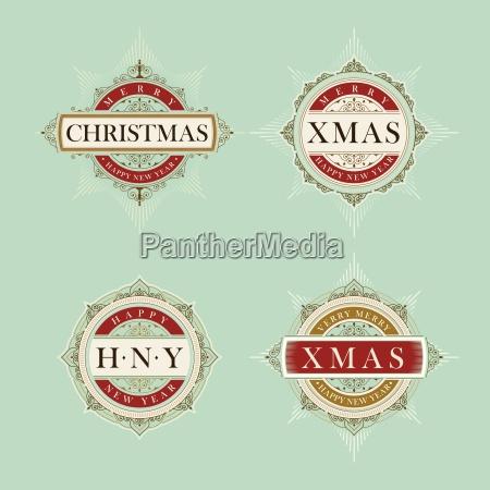 vector de lujo elegante navidad y