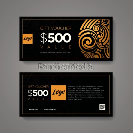 gift voucher design template luxury gold