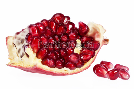 fruit of red pomegranate isolated on