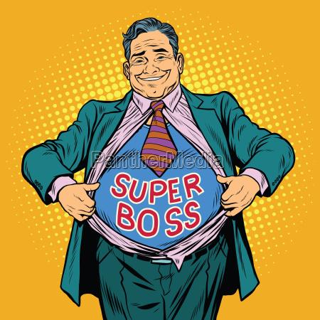 super jefe un hombre gordo empresario