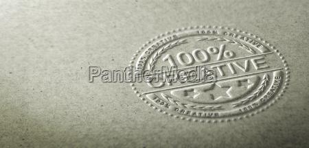 ilustracion 3d de un sello en