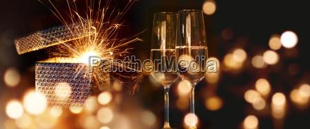 luz regalo champan fin de anyo