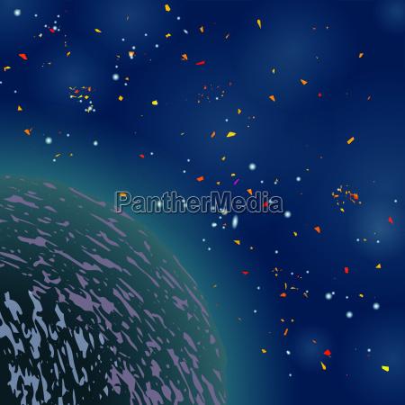 espacio universo cosmos ciencia noche campo