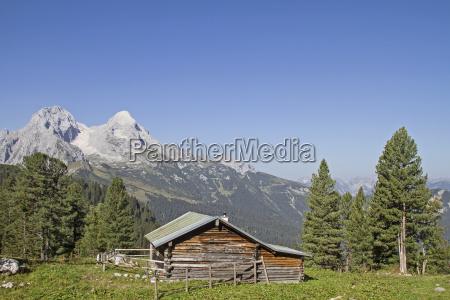 azul casa construccion montanyas alpes baviera