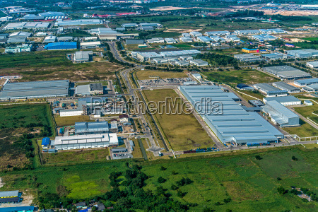 land development industrial estate aerial