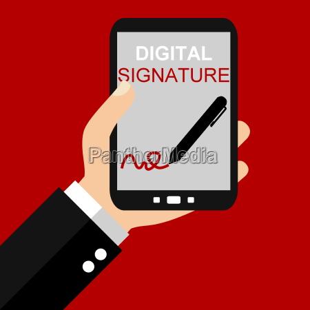 digital signature on the smartphone