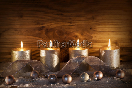 silver candles for the 4th advent