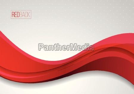 vector, rojo, y, blanco, ondulado, fondo - 19153959