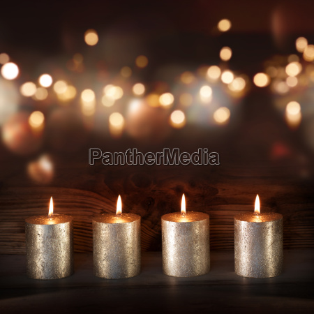 silver candles in front of a