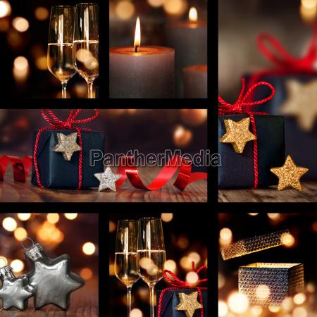 collage de decoraciones de mesa de