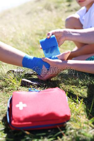 pie versado vendaje cubo dados pierna