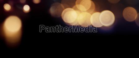 dark panorama with lights