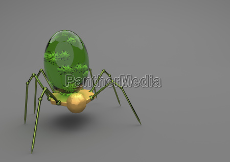nanobot con el virus en el