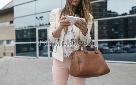 woman with digital tablet in front