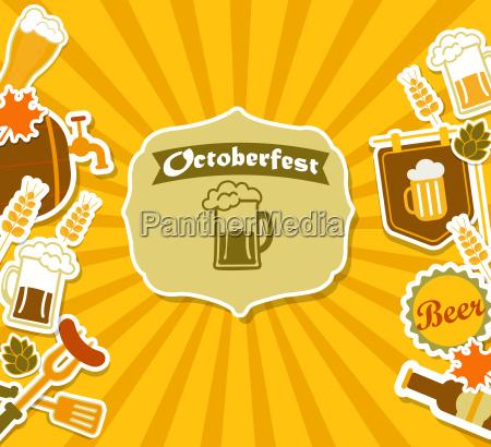 cartel de la cerveceria vintage beer