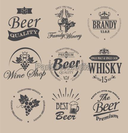 simbolico alcohol cerveza licor escudo de