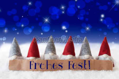 azul saludos fiesta invierno noche advenimiento