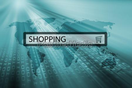 shopping written in search bar