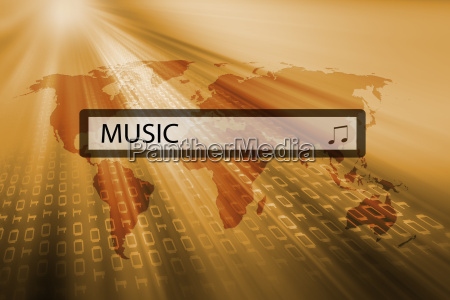 music written in search bar